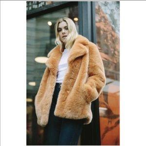 Avec Les filles Mitch collar faux fur coat